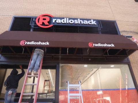 Radio Shack With Awning